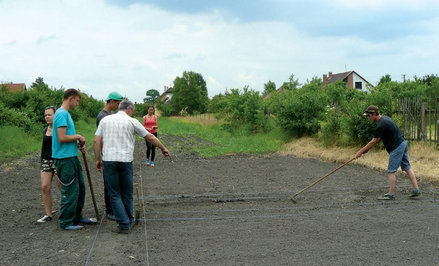 Megmentettek a diákok egy kertet: Sipos Gyuláné kertjében palántáznak