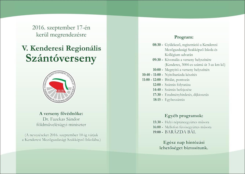 V. Kenderesi Regionális Szántóverseny