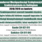 Továbbtanulási lehetőség 2018/2019-es tanév